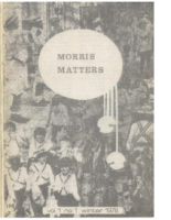 Morris Matters Vol 1 Issue 1