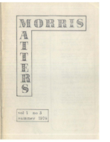 Morris Matters Vol 1 Issue 3