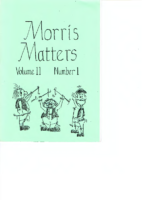 Morris Matters Vol 11 Issue 1