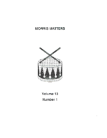 Morris Matters Vol 13 Issue 1