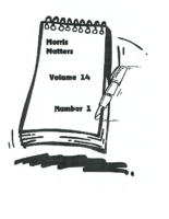 Morris Matters Vol 14 Issue 1
