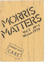 Morris Matters Vol 2 Issue 1