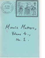 Morris Matters Vol 4 Issue 1