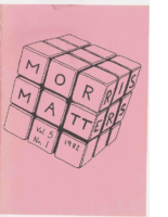Morris Matters Vol 5 Issue 1