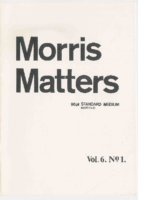 Morris Matters Vol 6 Issue 1