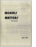 Morris Matters Vol 6 Issue 3