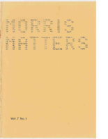 Morris Matters Vol 7 Issue 1