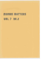 Morris Matters Vol 7 Issue 2
