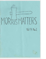 Morris Matters Vol 9 Issue 1