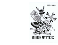 Morris Matters Vol 37 Issue 1